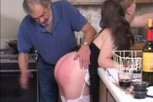 Naughty stepdaughter gets punished