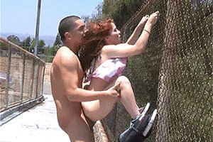 Real couple outdoor sex